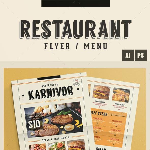 Restaurant Flyer Menu