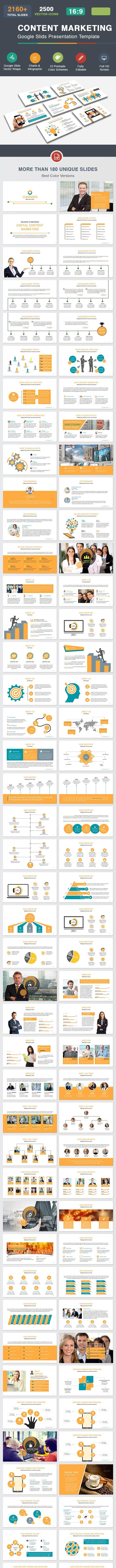 Content Marketing Google Slides Template - Google Slides Presentation Templates