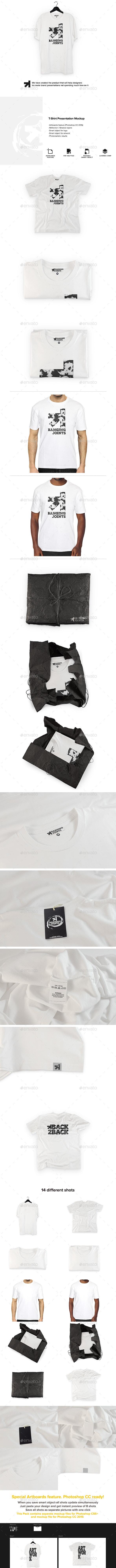 White T-Shirt Presentation Mockup - T-shirts Apparel