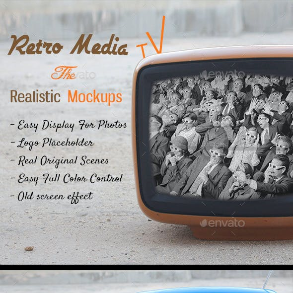 Retro Media Tv - The Realistic Mockups