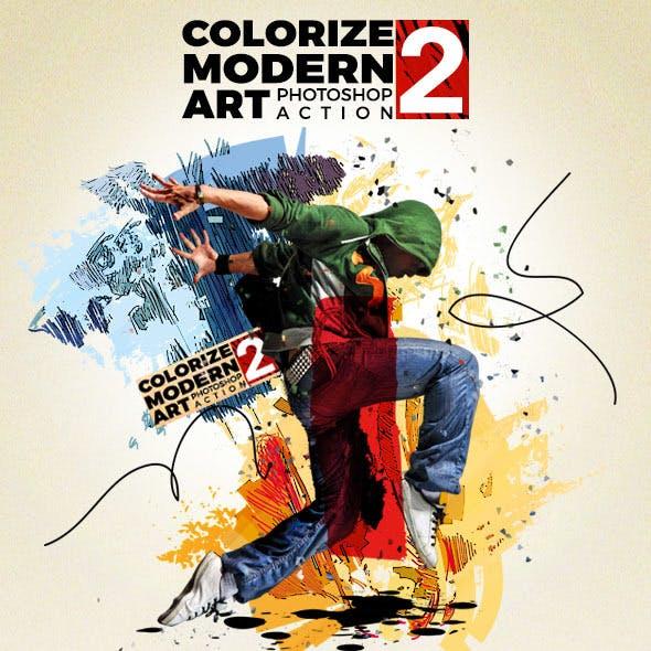 Colorize Modern Art 2 Photoshop Action