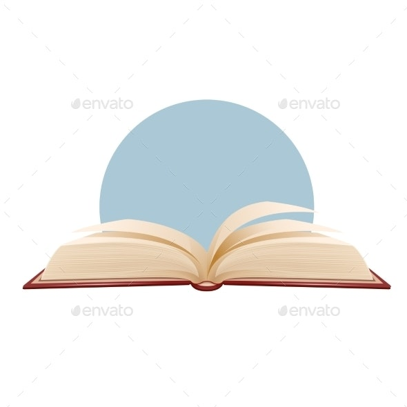 Opened Book On Blue Background - Man-made Objects Objects