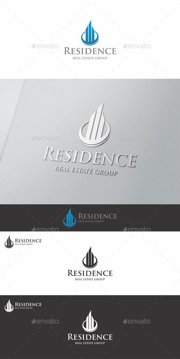 Residence Real Estate Logo - Buildings Logo Templates