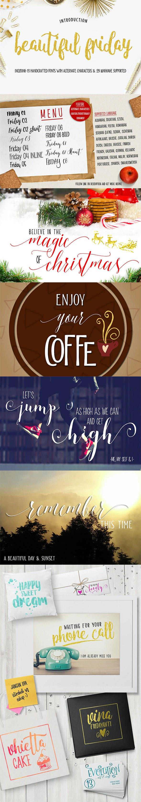 Friday (13 Fonts) - Serif Fonts