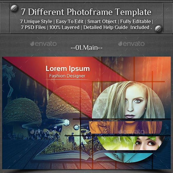 7 Different Photo Frame Template