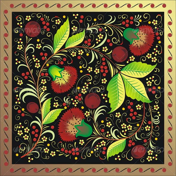 National pattern of Russia - Backgrounds Decorative
