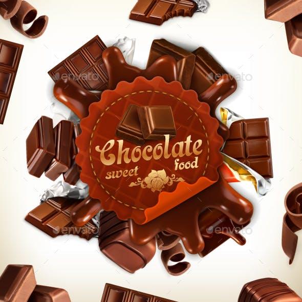 Chocolate Vector Label