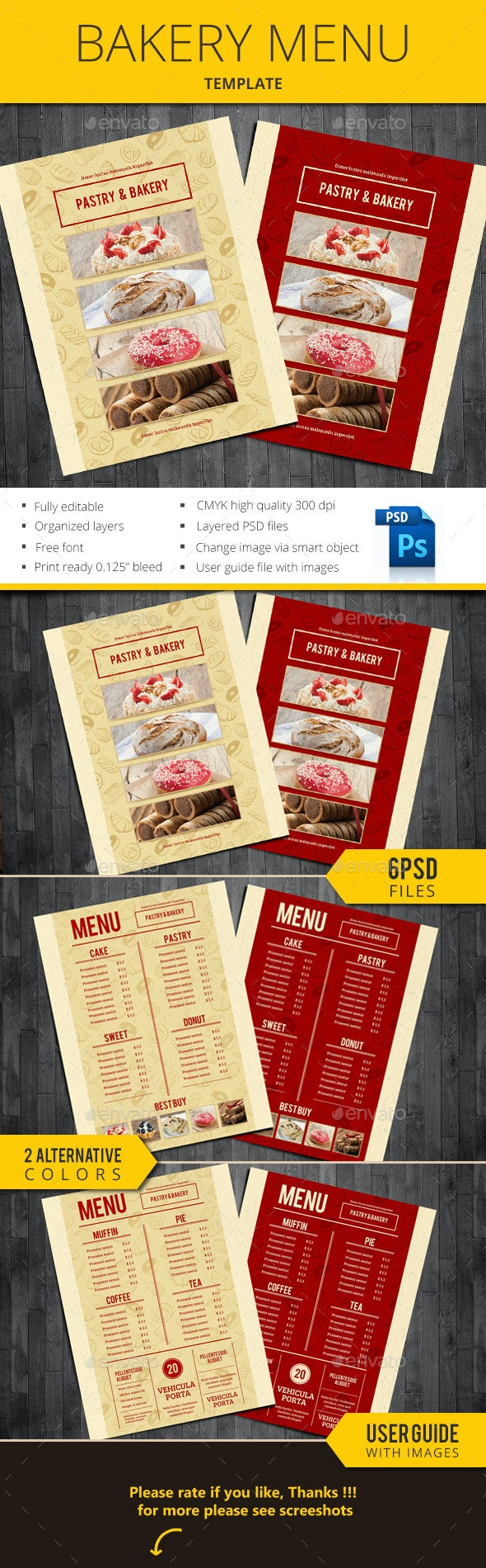 Bakery Menu - Restaurant Flyers