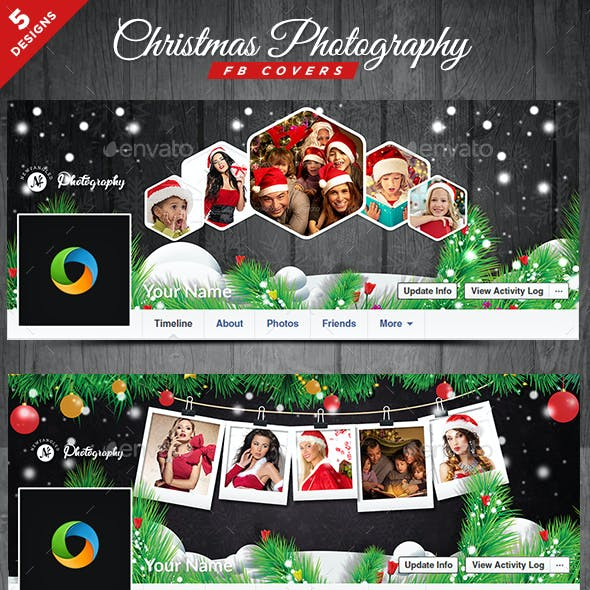 Christmas Photography Facebook Covers - 5 Designs