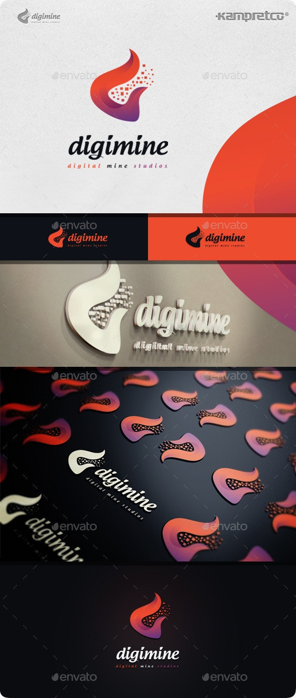 Digitalize Logo - Vector Abstract