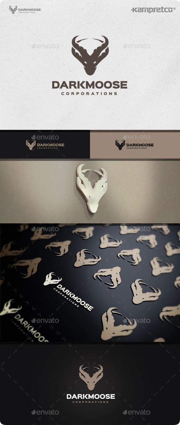 Moose Bull Logo - Vector Abstract