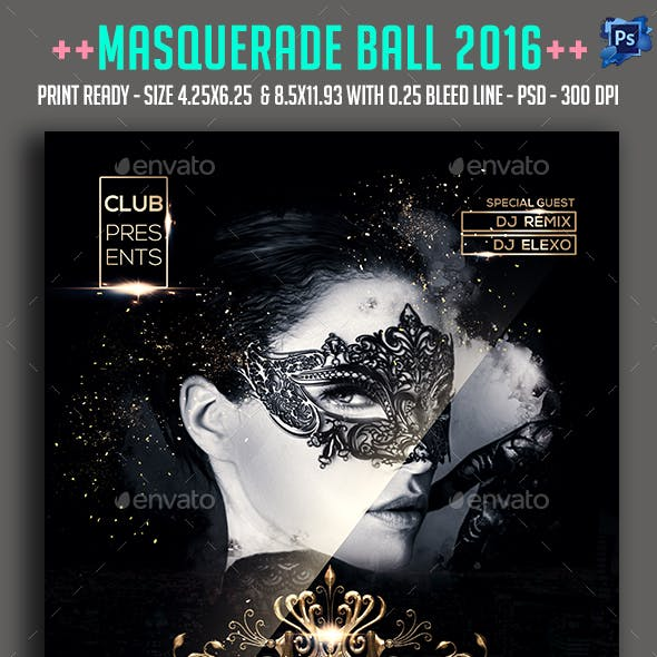 Masquerade Ball 2016 Party Flyer