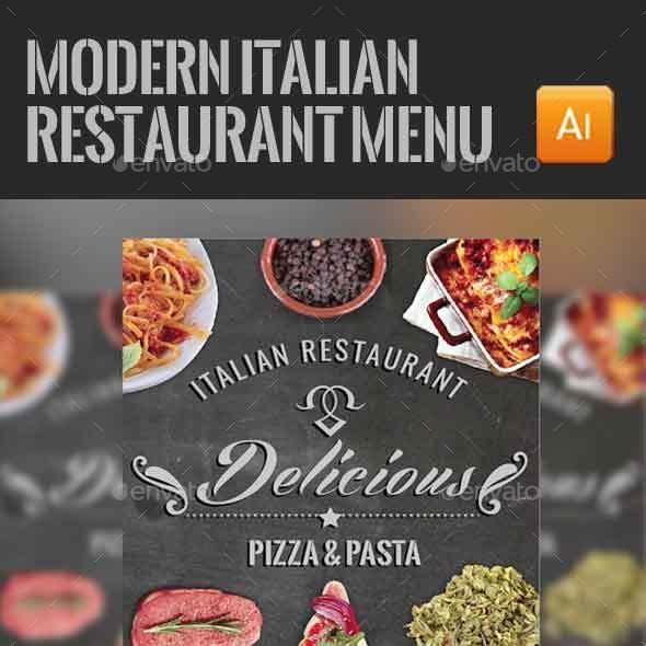 Modern Italian Food Menu