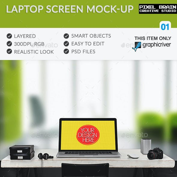 Laptop Screen Mock-Up