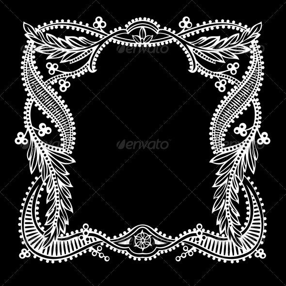 One Color Ornate Quad Text Banner - Retro Technology