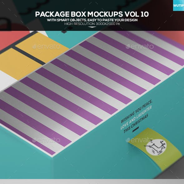 Package Box Mockups Vol10