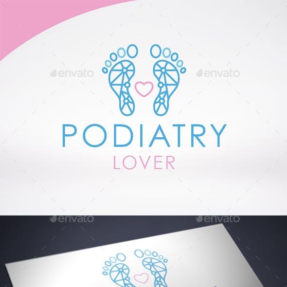 Podiatry Love Logo Template