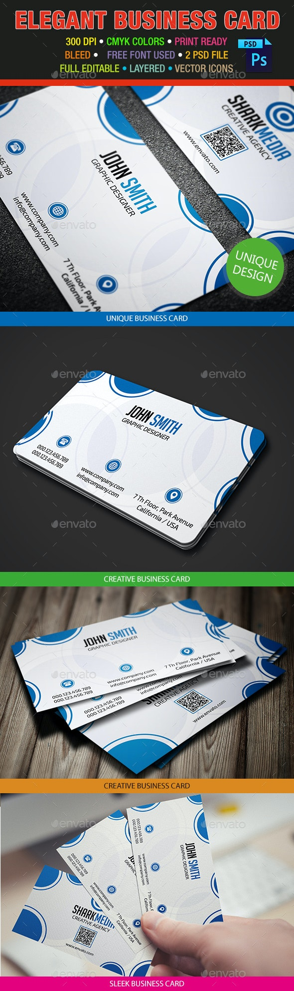 Elegant Business Card 380 - Creative Business Cards