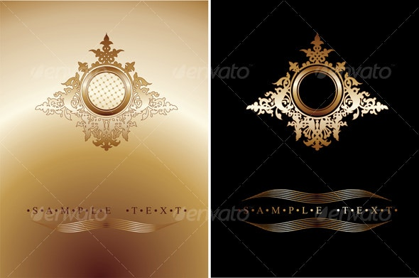 Black And Gold Ornate Banner  - Backgrounds Decorative