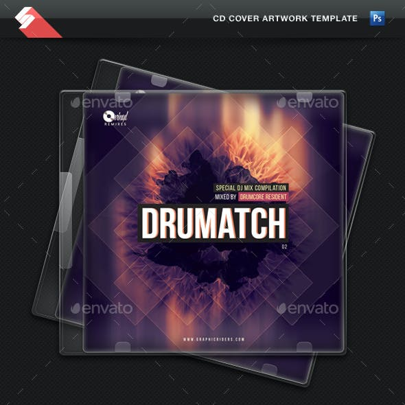 Drumatch vol.2 - CD Cover Artwork Template