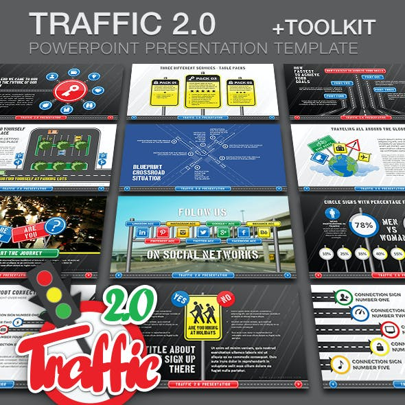 Traffic 2.0 PP Presentation Template + Toolkit
