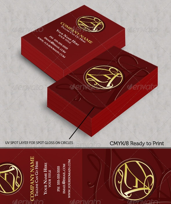 Elegant Lines Corporate Business Cards - Creative Business Cards