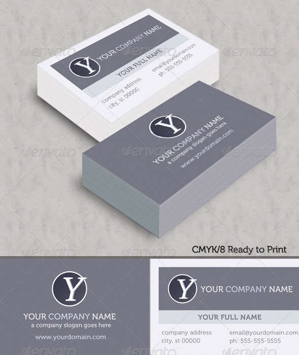 Modern Ice Business Cards - Corporate Business Cards