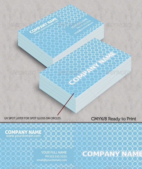 Modern Circles Business Cards - Creative Business Cards