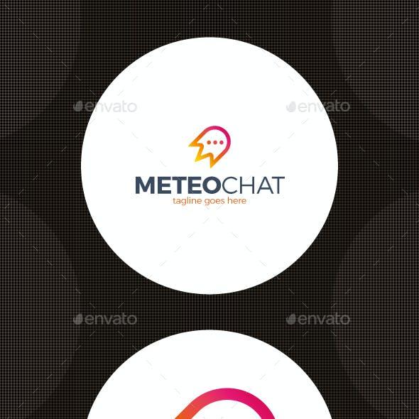 Meteorite Chat Logo - Rocket Message