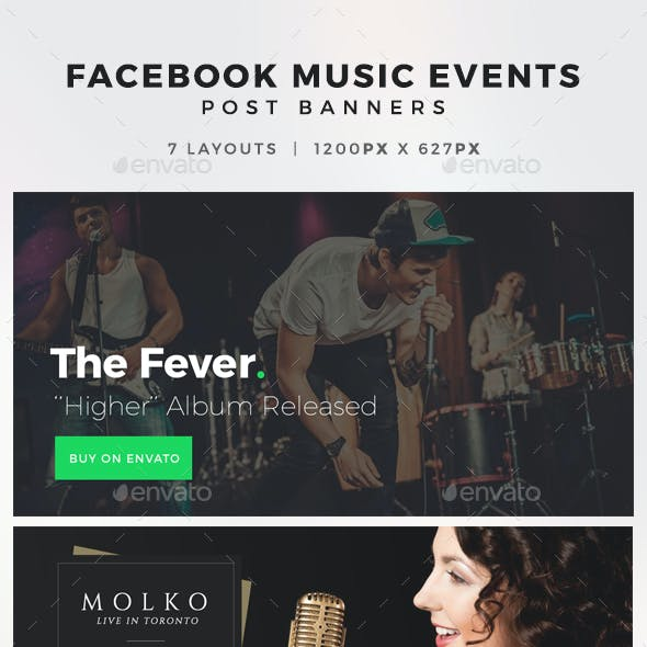 Facebook Music Events Post Banners