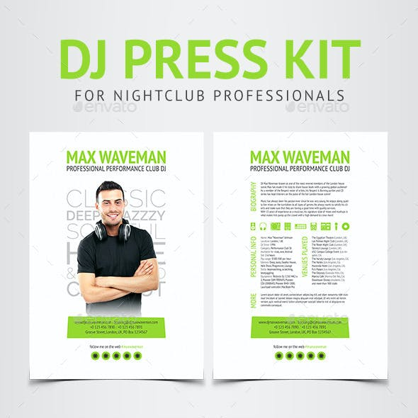 Groove - DJ Press Kit / Resume PSD Template