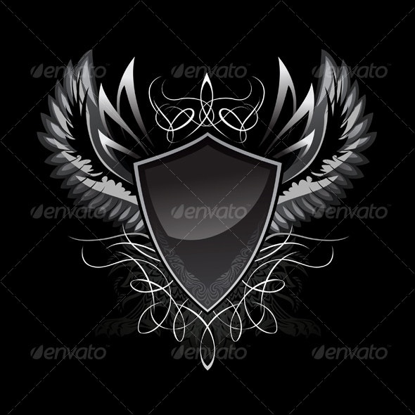 Gothic Shield Insignia - Characters Vectors