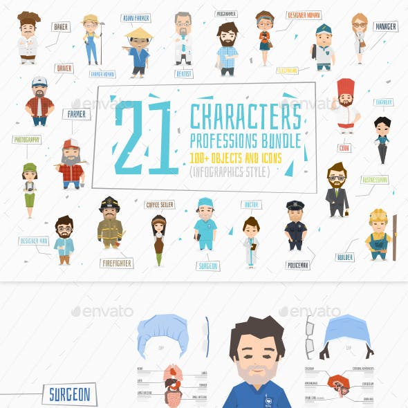 21 Professions Characters