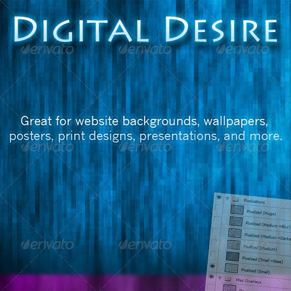 Digital Desire - Pixel Background