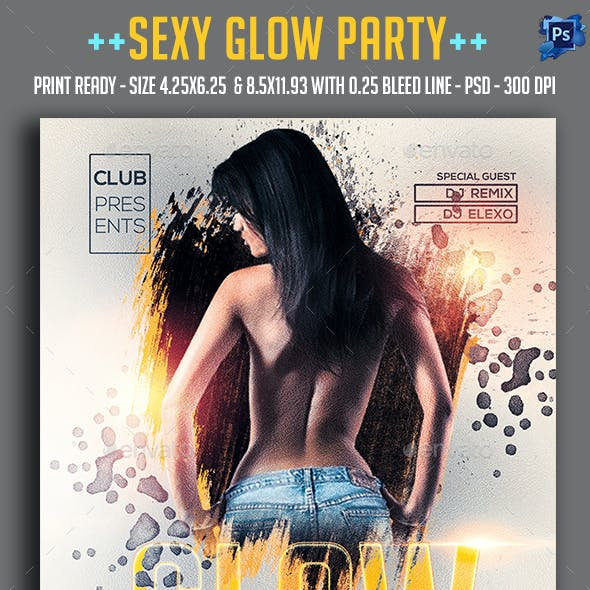 Sexy Glow Party Flyer