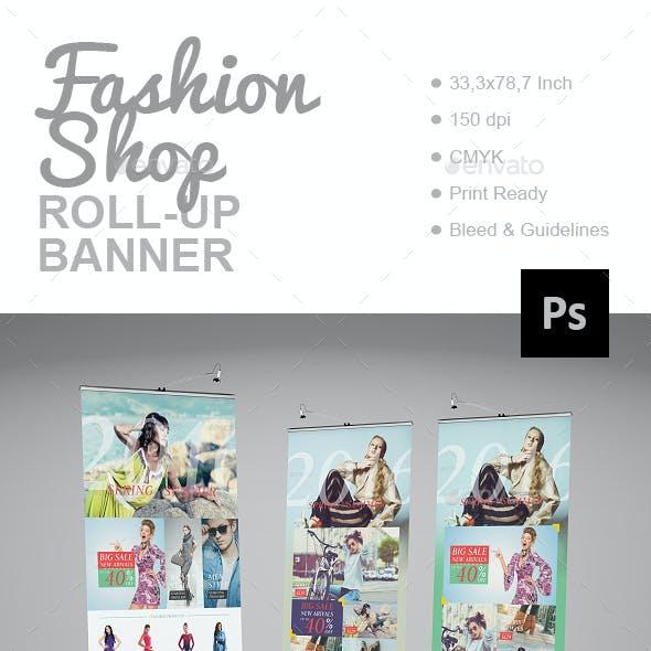 Fashion Shop Roll-Up Banner