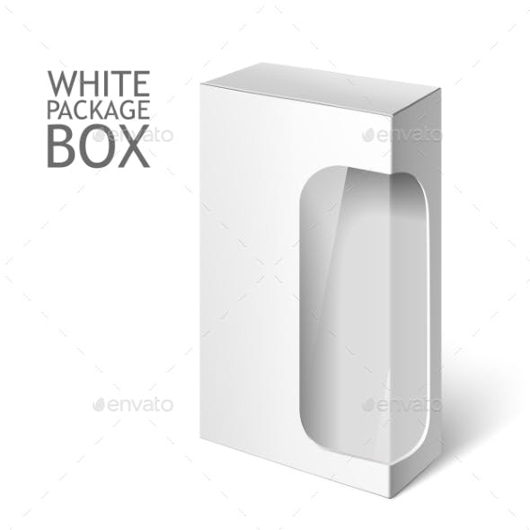 White Package Box with Window