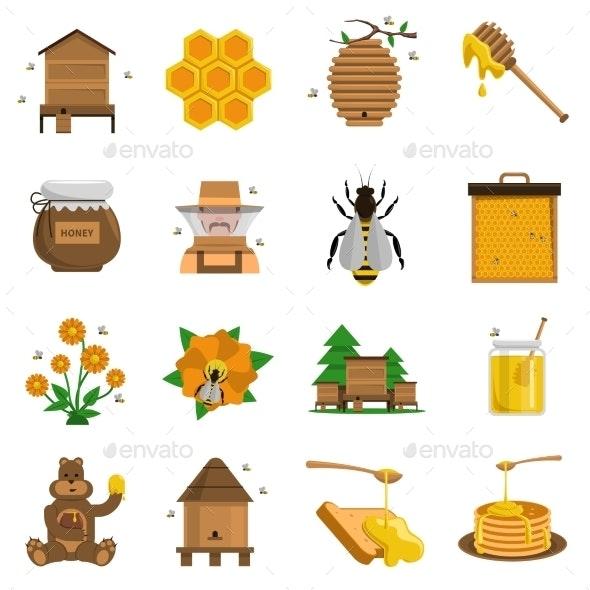 Honey Icons Set