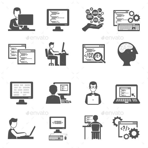 Programmer Icons Set