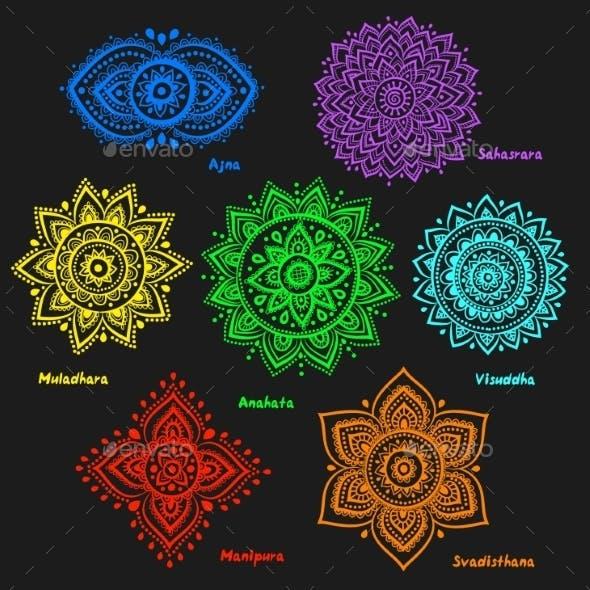 Set of 7 Chakras