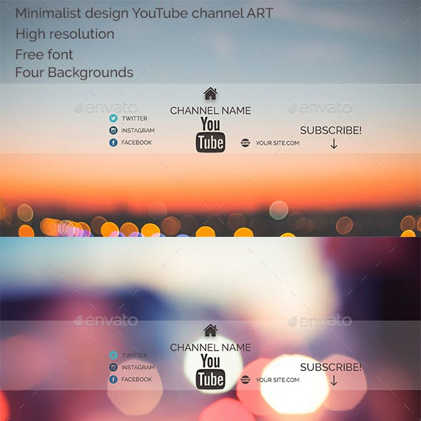 Minimalist design YouTube channel ART