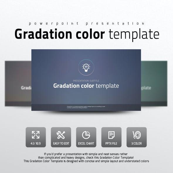 Gradation Color Template
