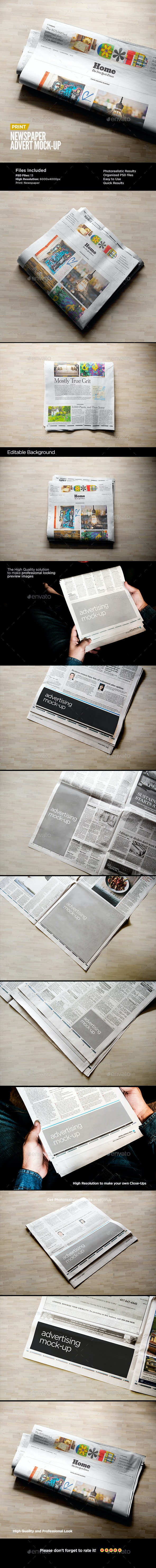 Newspaper Advert Mock-Up - Miscellaneous Print