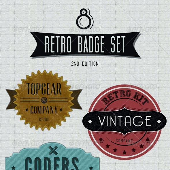 Retro Badges - Faded Vintage Labels - V.2