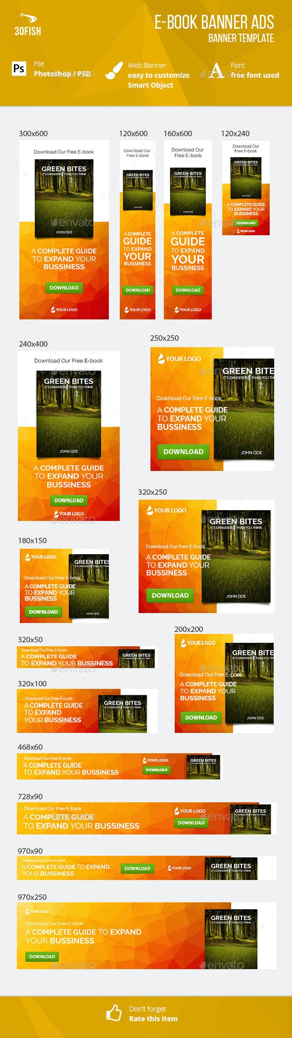 E-book Banner Ads - Banners & Ads Web Elements