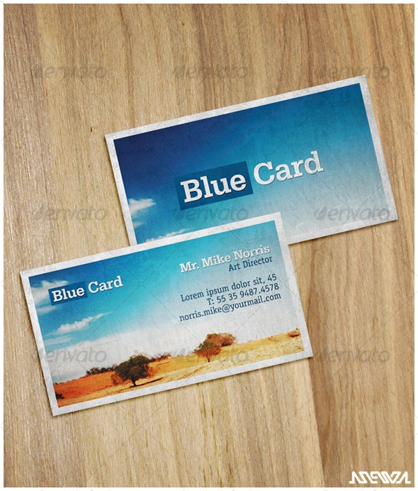 Blue Card - Creative Business Cards