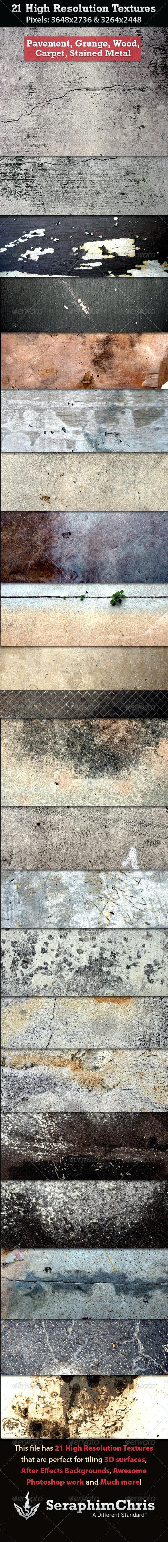 21 High Resolution Textures - Industrial / Grunge Textures