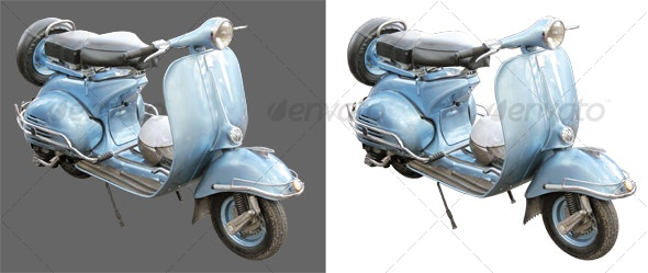 Antique scooter - Industrial & Science Isolated Objects