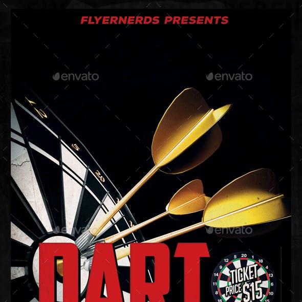 Dart Championships 2015 Sports Flyer