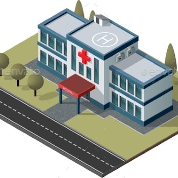 Isometric Hospital Vector